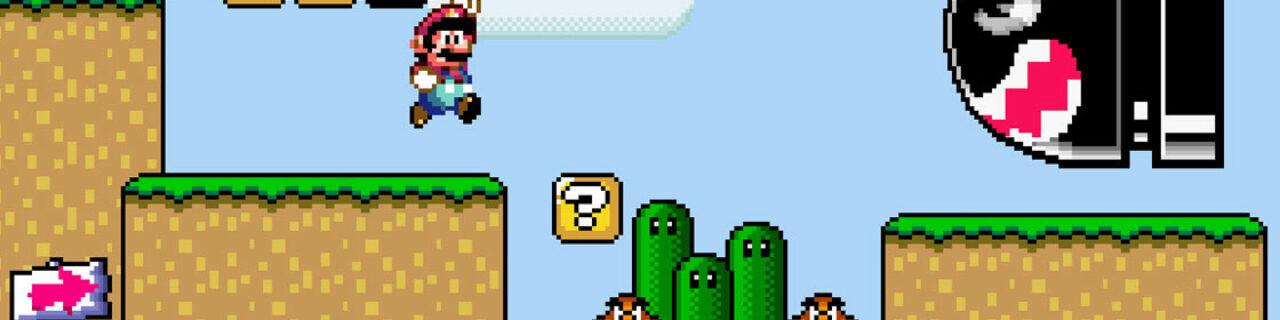Parallaxe Verschiebung im Videospiel Super Marioworld
