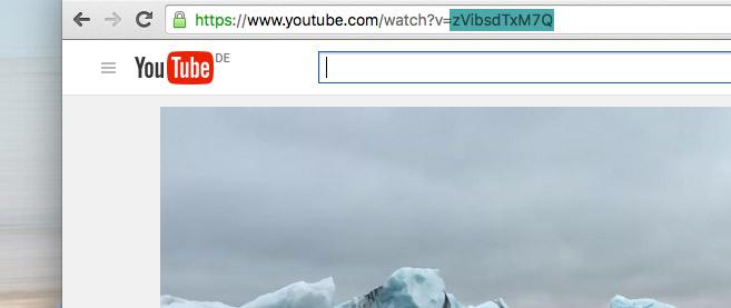 YouTube Video als Seitenhintergrund einrichten - so ermitteln Sie die YouTube Video ID