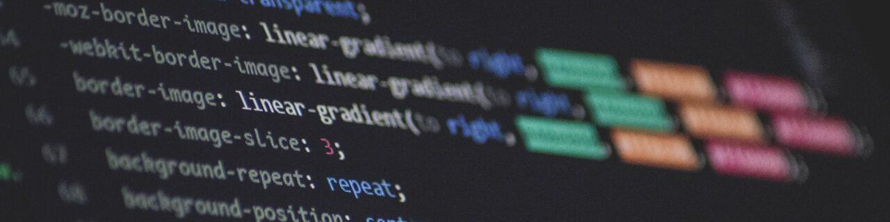 Fotografie eines Text-Editors mit CSS Code